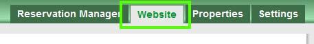 Reservation website tag