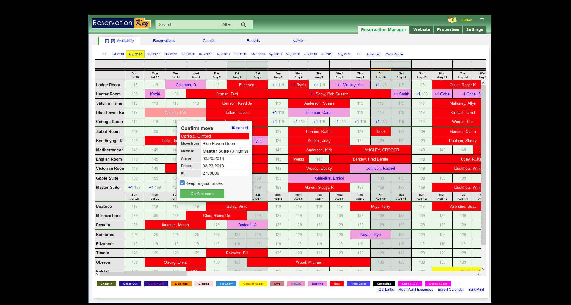 MAIN CALENDAR.  Clean, concise, customizable.
