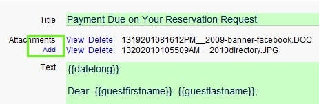 Reservation add attachment